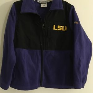 Columbia LSU Tigers Fleece Jacket w/Overlays YTH 8